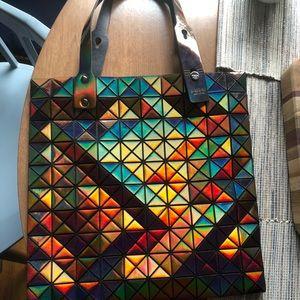 Handbags - Issey Miyake Bao Bao inspired bronze square tote
